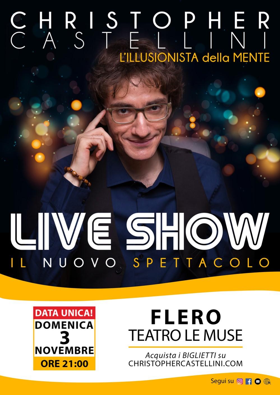 Christopher Castellini Locandina Live Show Flero